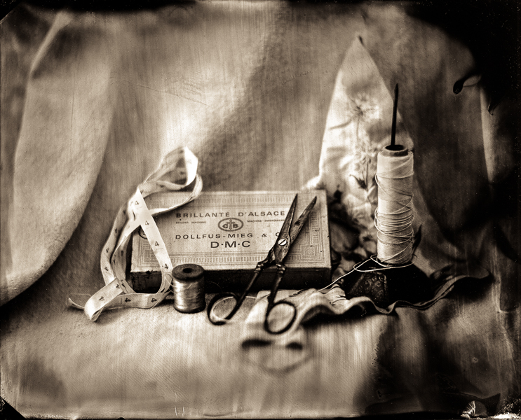 "Featured in ""Cloth Paper Scissors Studios. Wet Plate Collodion Photograph : Still Life : Mark Elson Pictures"